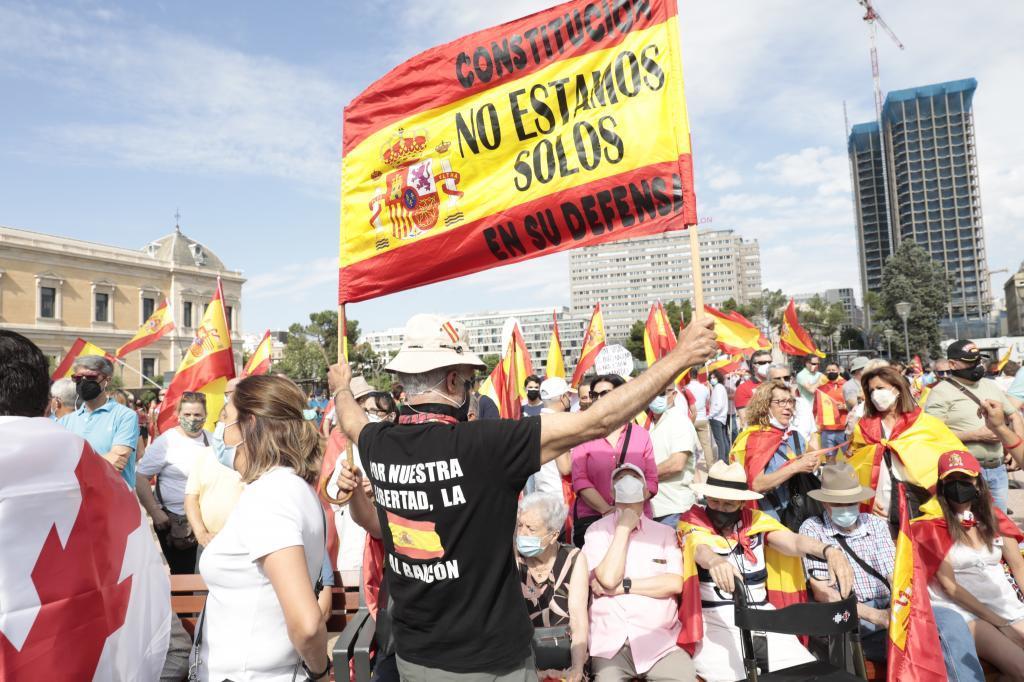 Manifestación de Colón contra los indultos