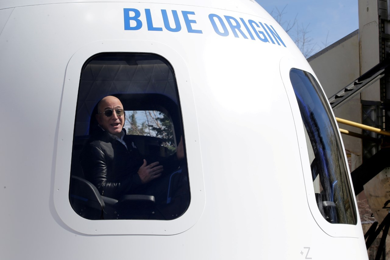 Jeff Bezos, propietario de Blue Origin