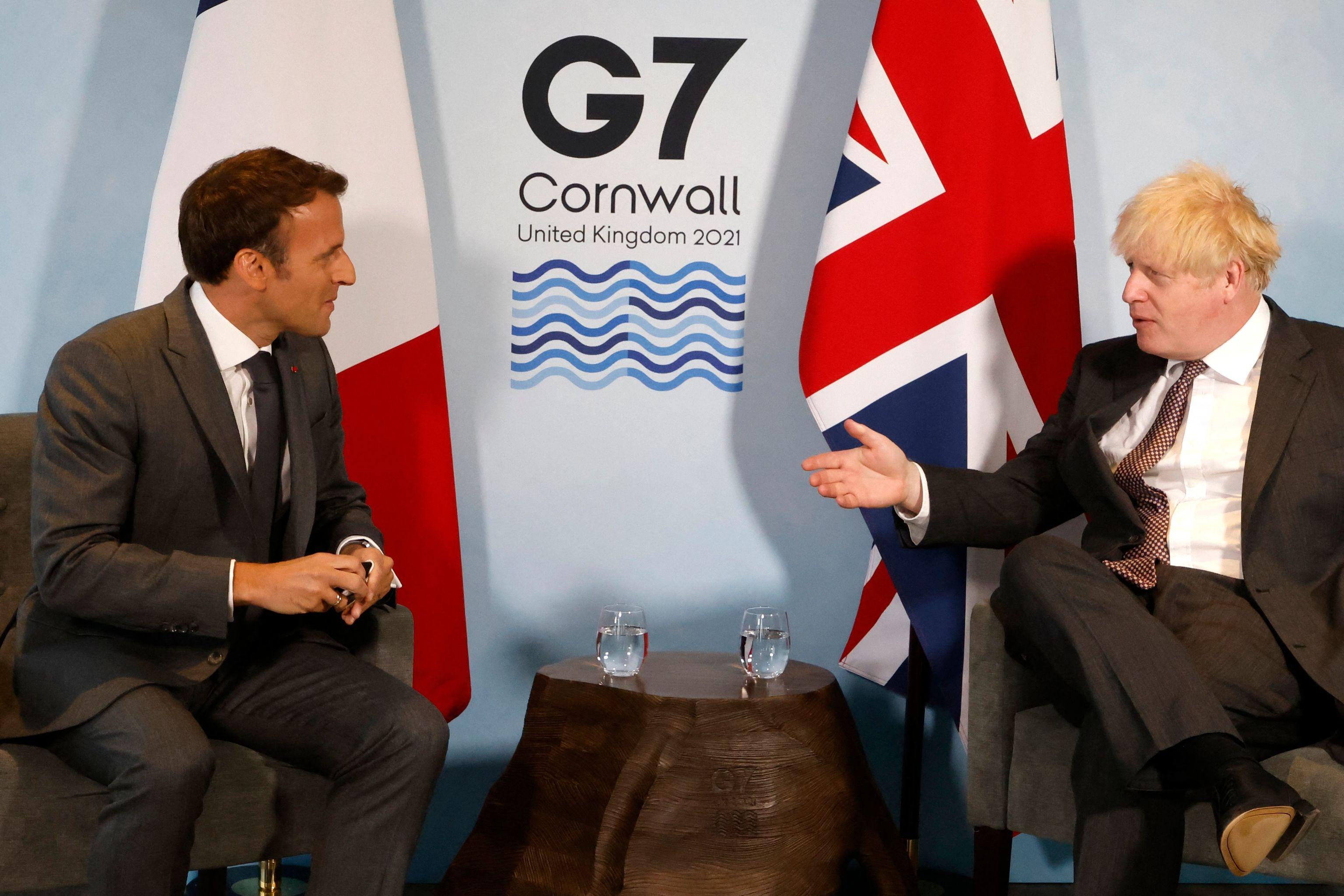 Johnson y Macron, durante una reunión bilateral en la cumbre del G7.