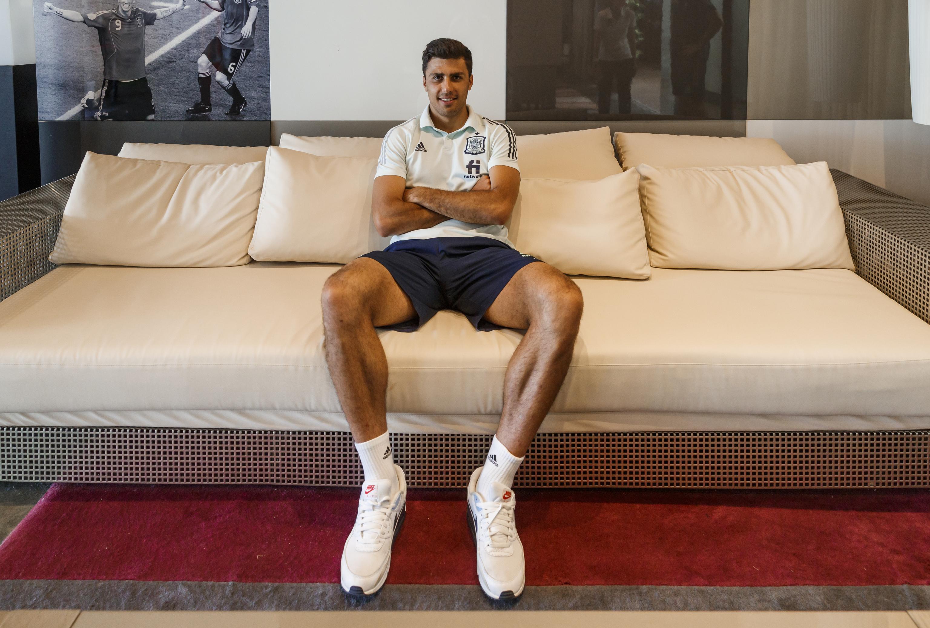 Rodri, en la residencia de la Ciudad del Fútbol de Las Rozas.