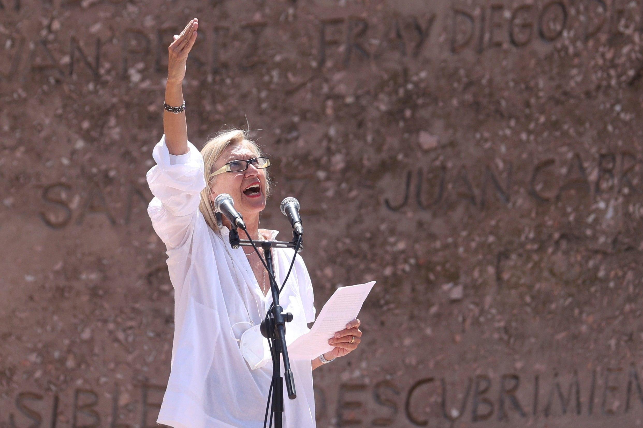 Rosa Díez, en un momento de su intervención.
