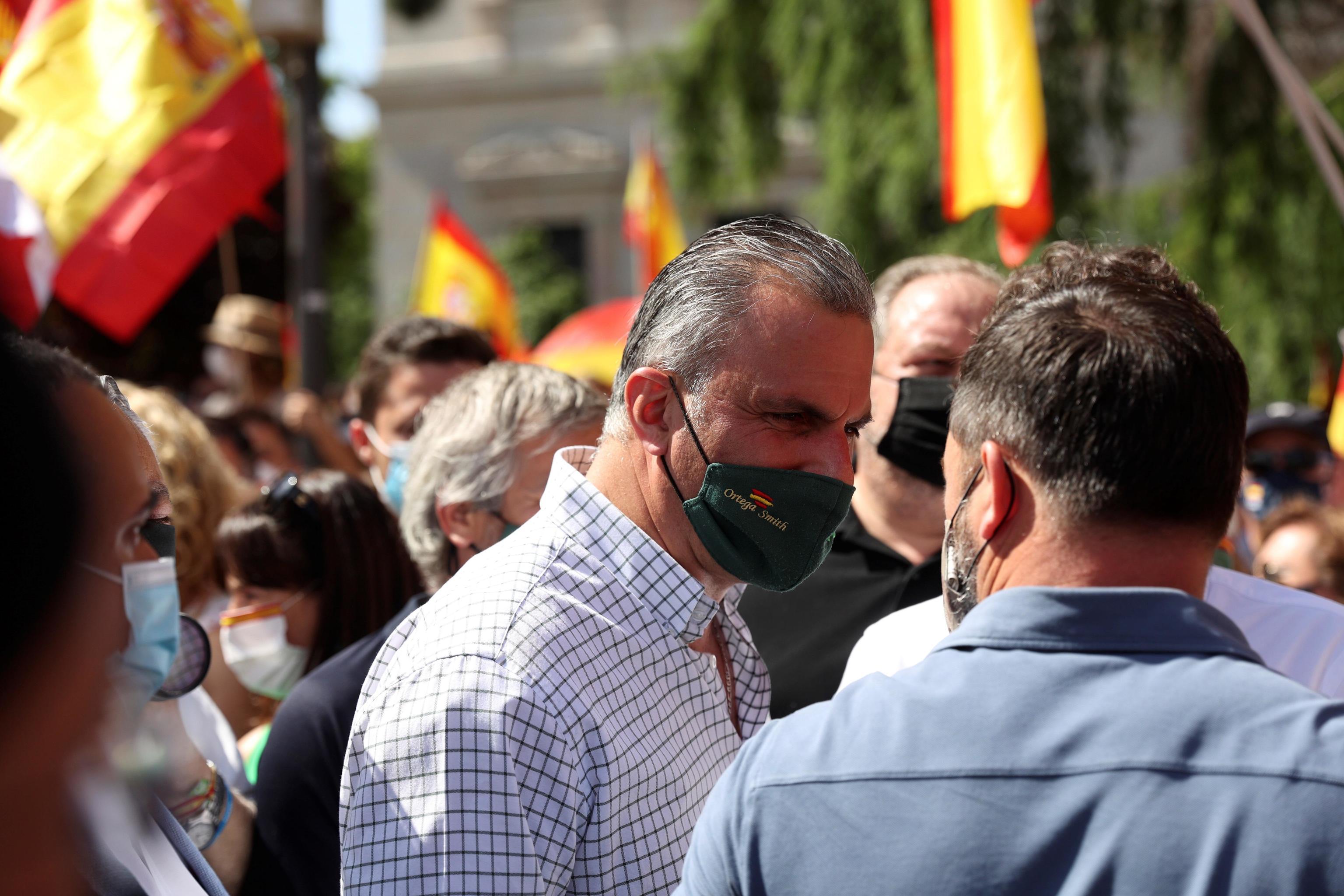 Javier Ortega Smith, en la protesta de Colón.