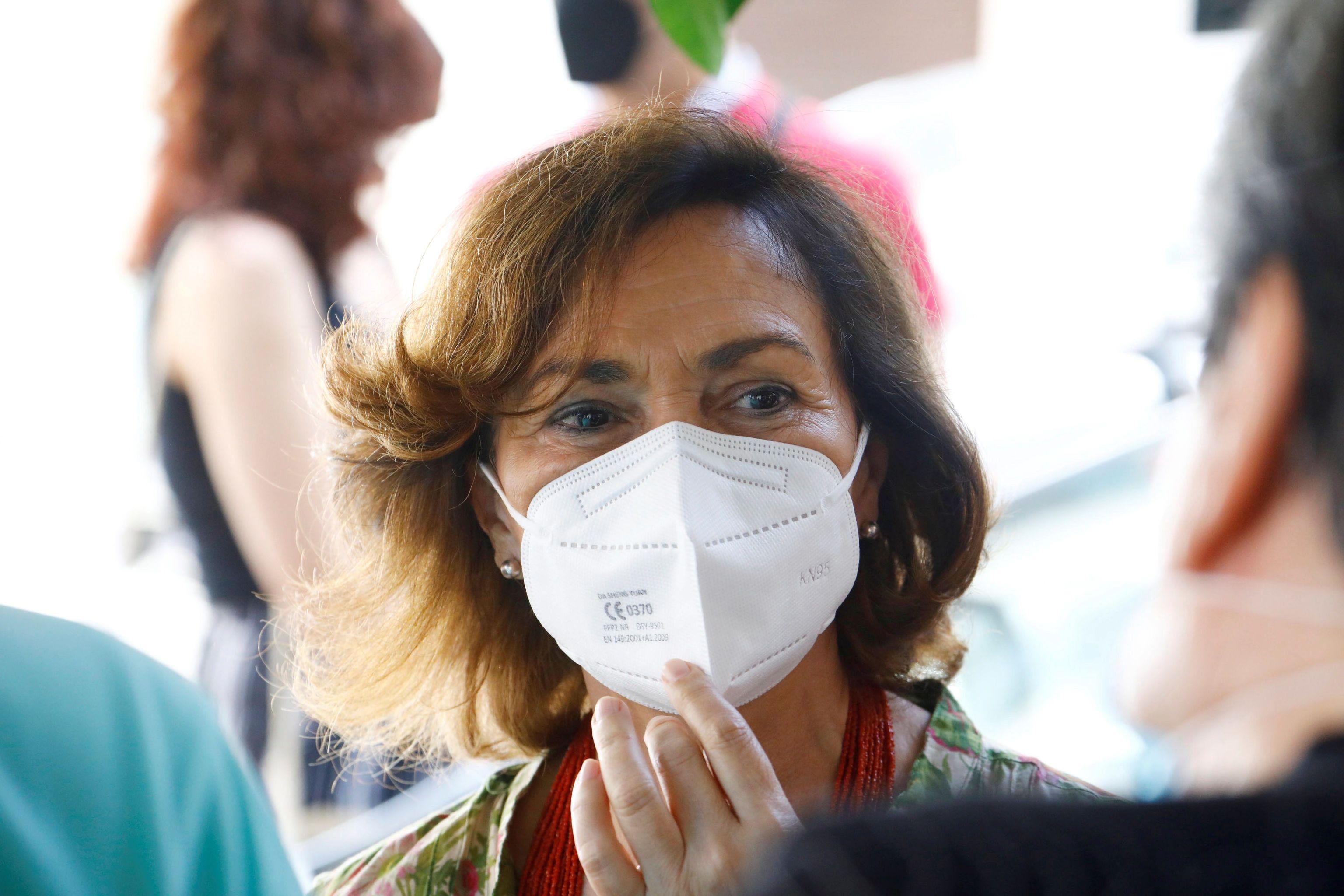 La vicepresidenta del Gobierno, Carmen Calvo, hoy en Córdoba.