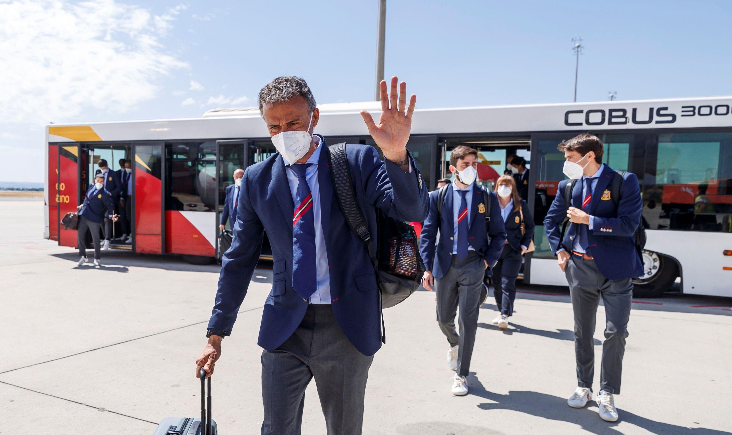 Luis Enrique, a su llegada a Sevilla