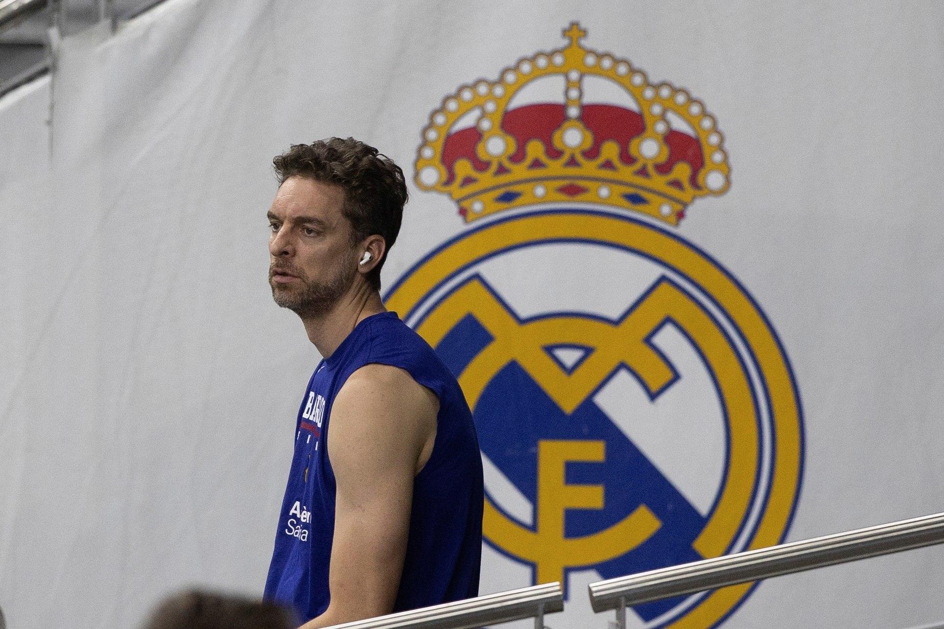 Gasol en el Wizink Center para enfrentarse al Real Madrid