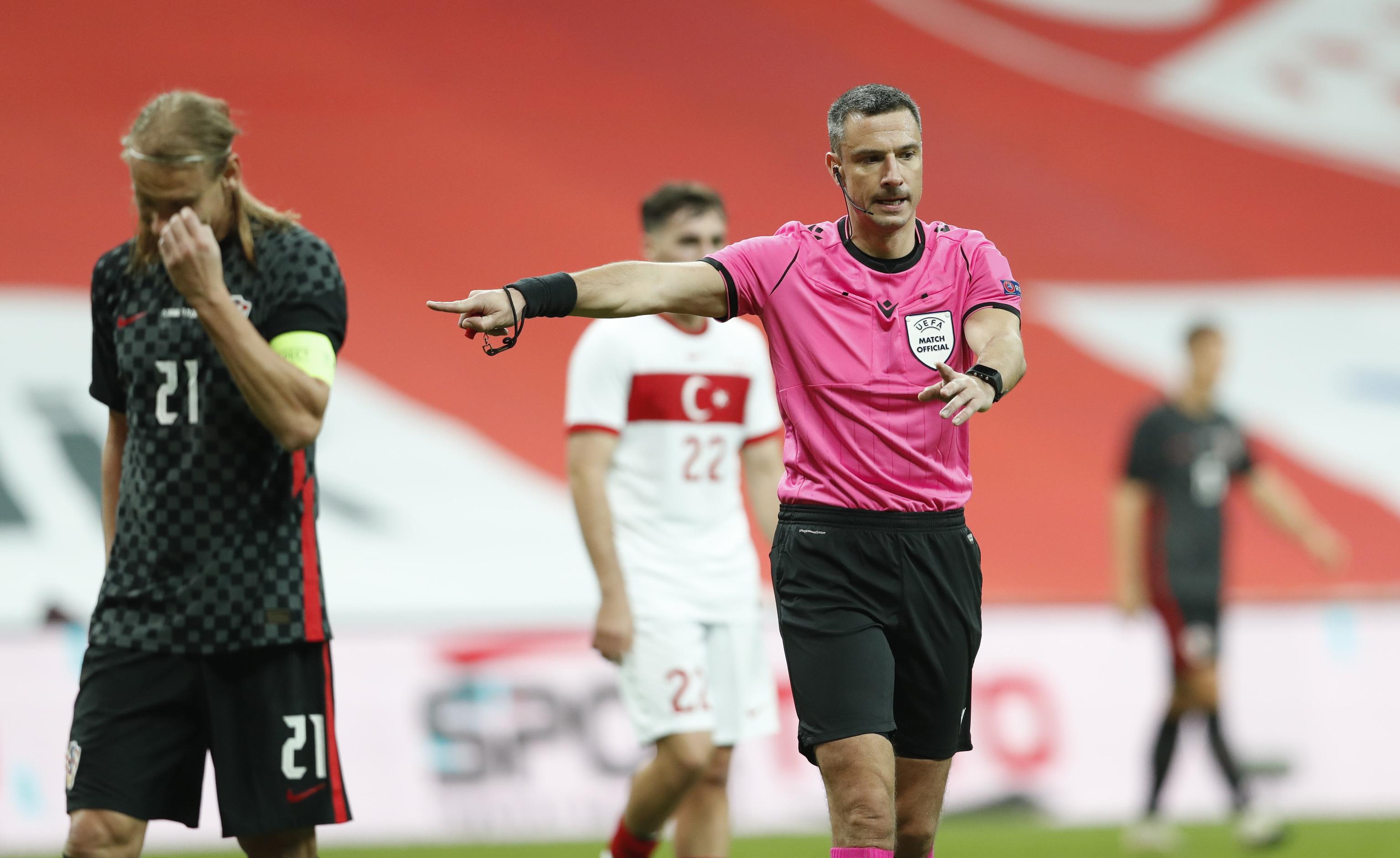 Slavko Vincic, durante un partido internacional.