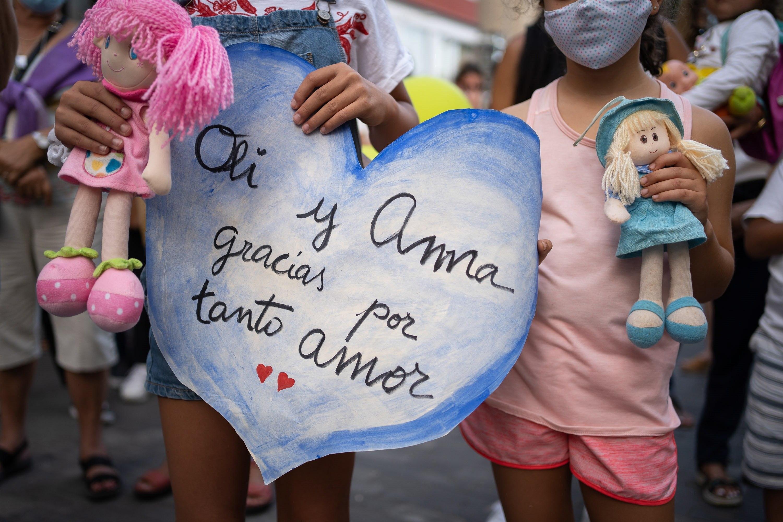 Concentración en Tenerife en recuerdo de Anna y Olivia.