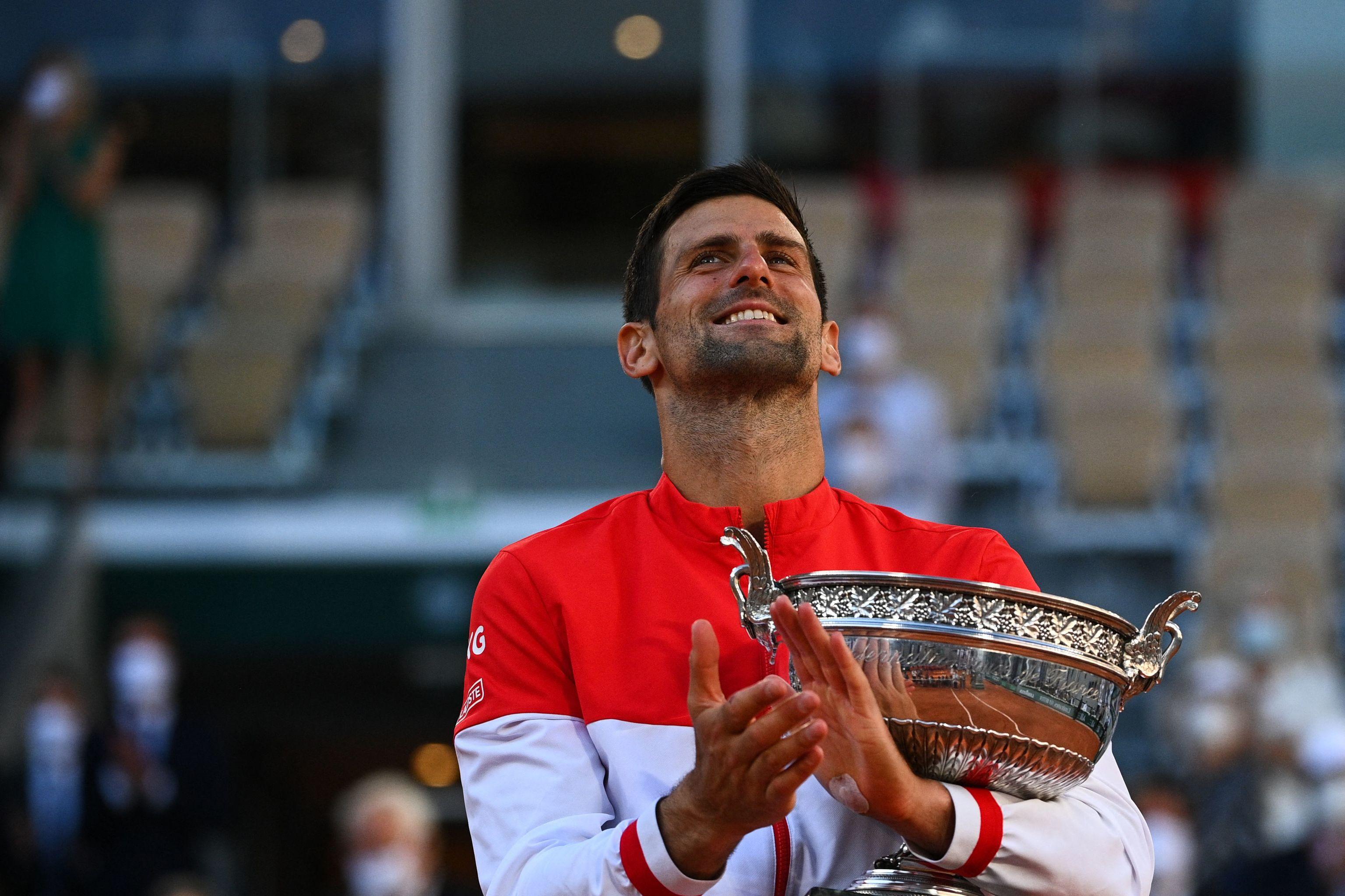 Djokovic, con su segunda Copa de los Mosqueteros en París.