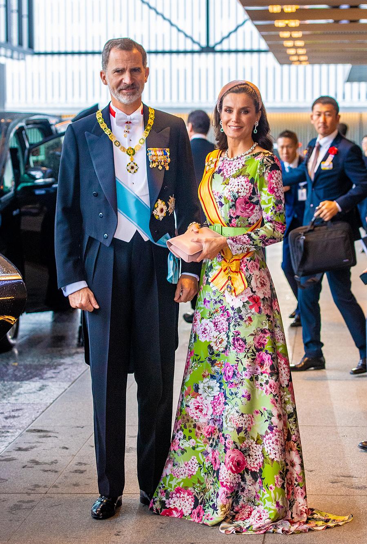 La Reina Letizia vestida de gala - Tokio, octubre de 2019