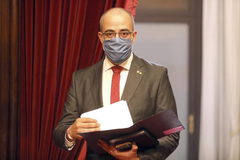 Buch en el Parlament cuando era conseller