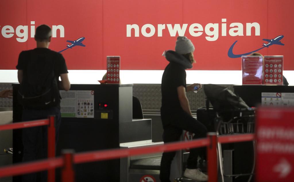 Mostrador de Norwegian en el aeropuerto de El Prat
