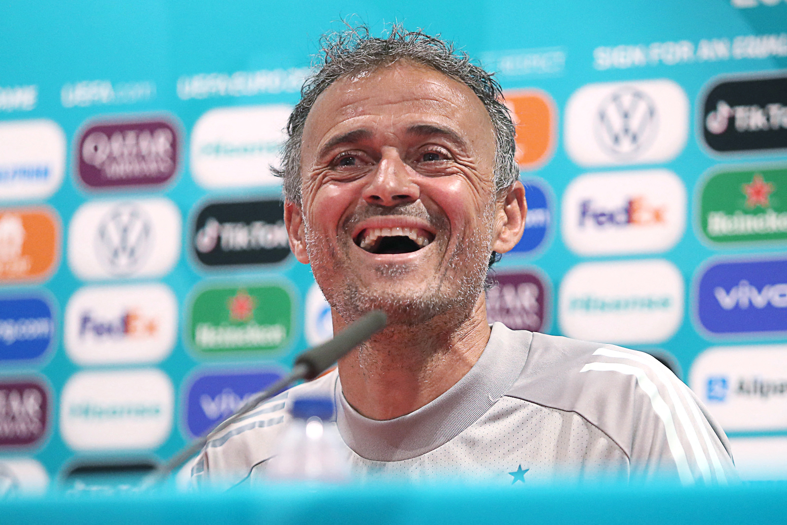 Eurocopa España - Suecia: el entrenador de la selección española de fúbol, Luis Enrique.