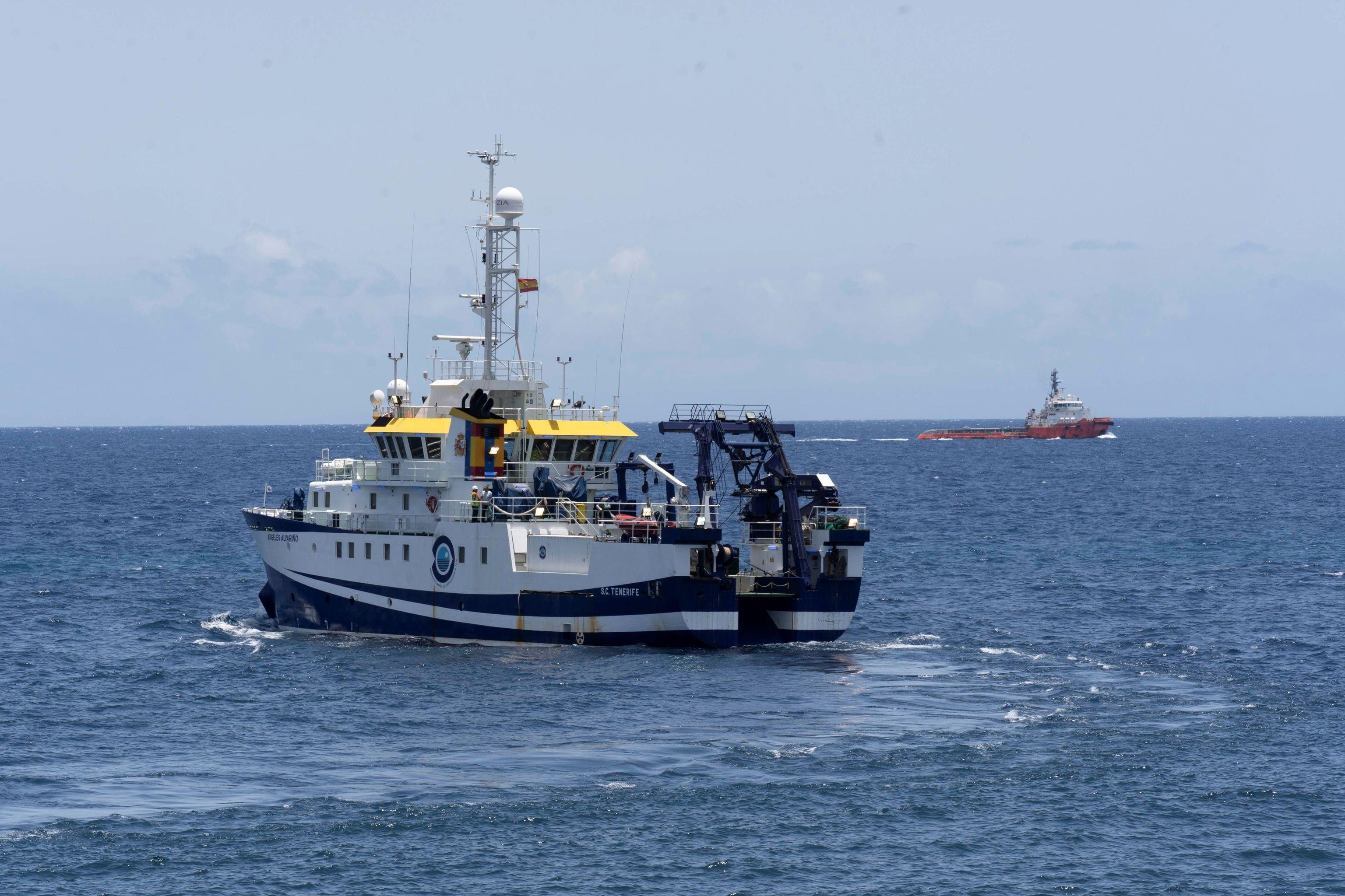 El buque del Instituto Español de Oceanografía 'Ángeles Alvariño'