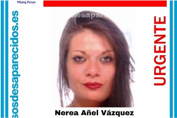 Alerta de la desaparición de Nerea Añel.