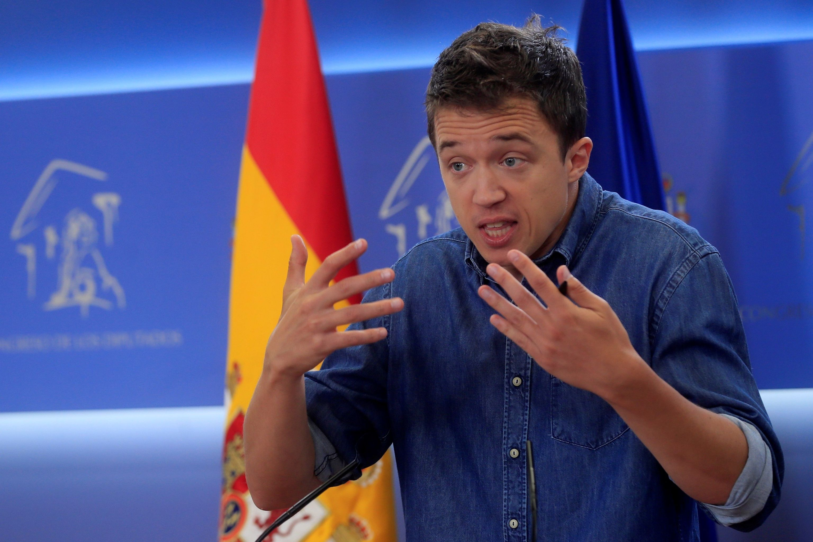 El portavoz de Más Madrid, Íñigo Errejón, en el Congreso.