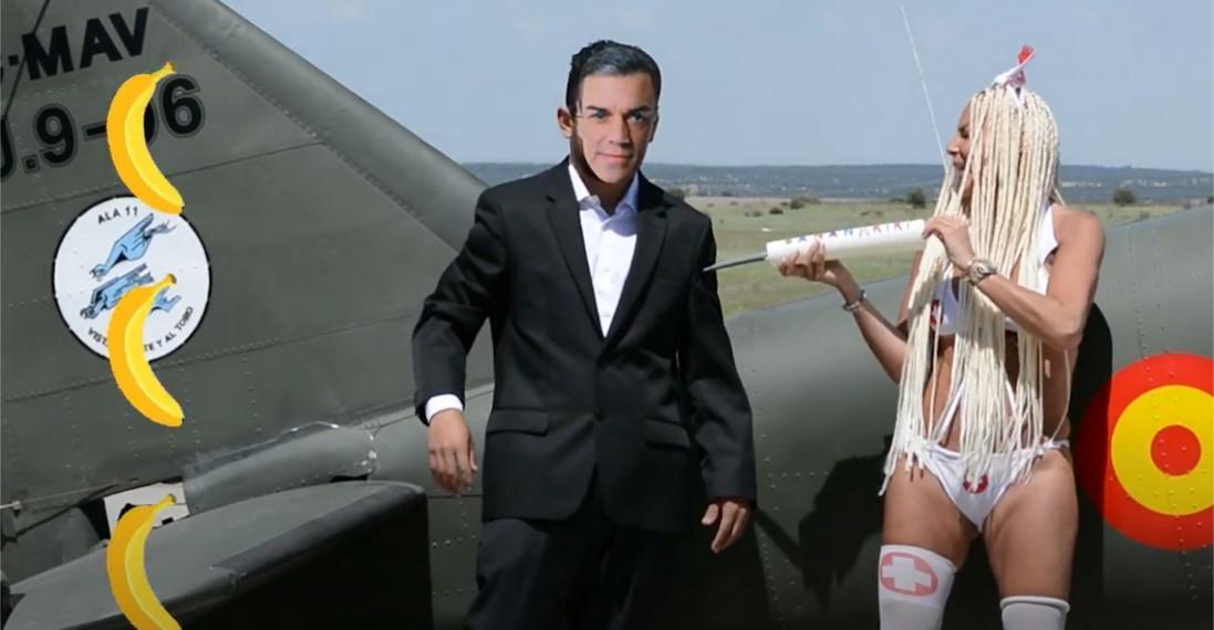 Pedro Sánchez en el videoclip La Bananakiki.