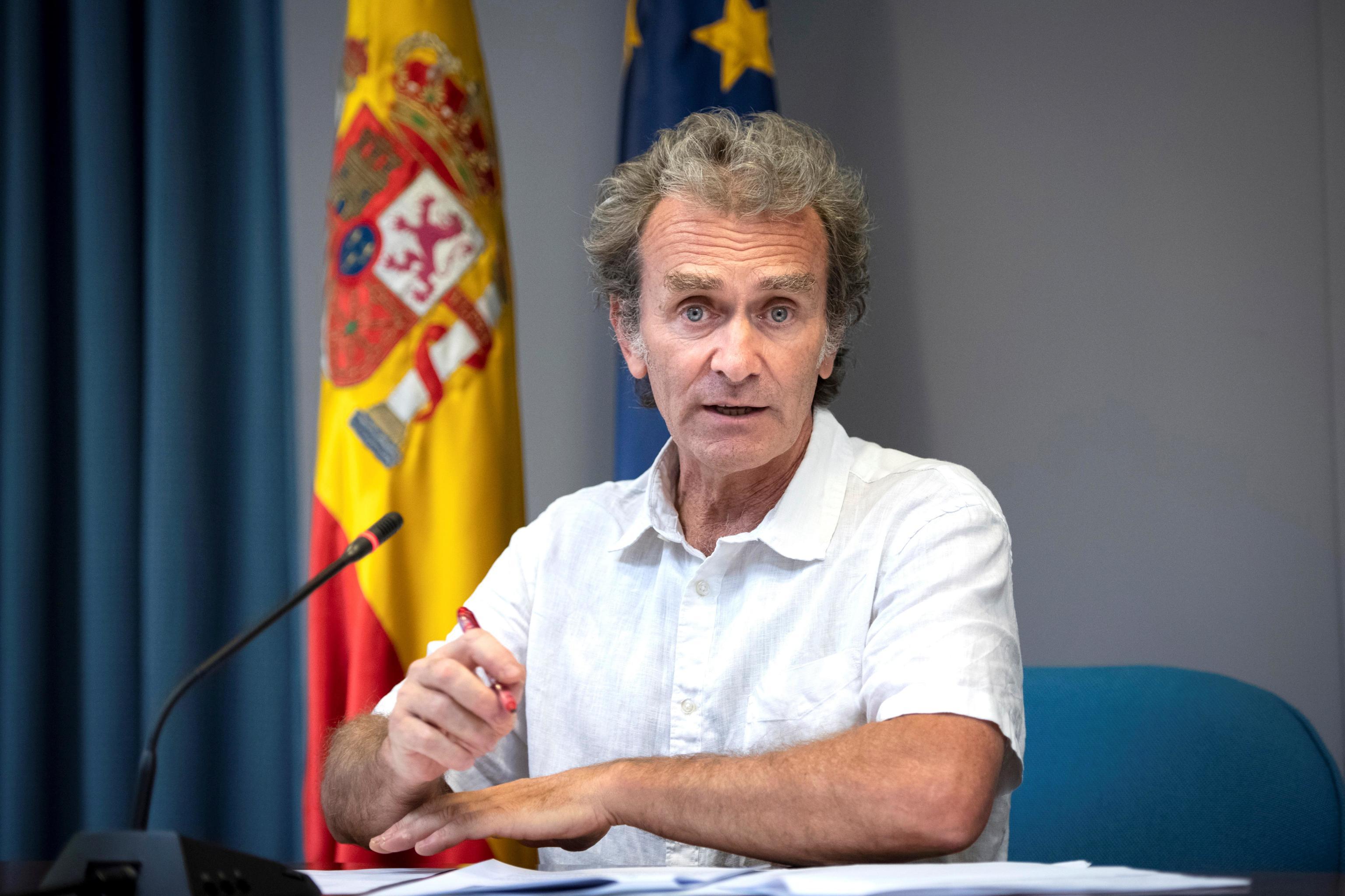 Fernando Simón durante la rueda de prensa de este lunes.