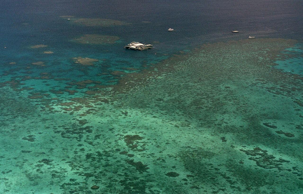 Vista aérea del Arrecife Agincourt, uno de los segmentos de la Gran Barrera del Coral de Australia.