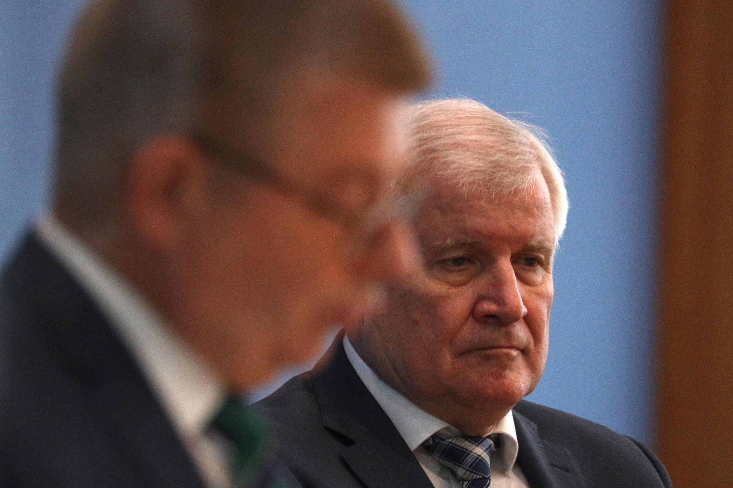 El ministro del Interior alemán, Horst Seehofer, durante una rueda de prensa.