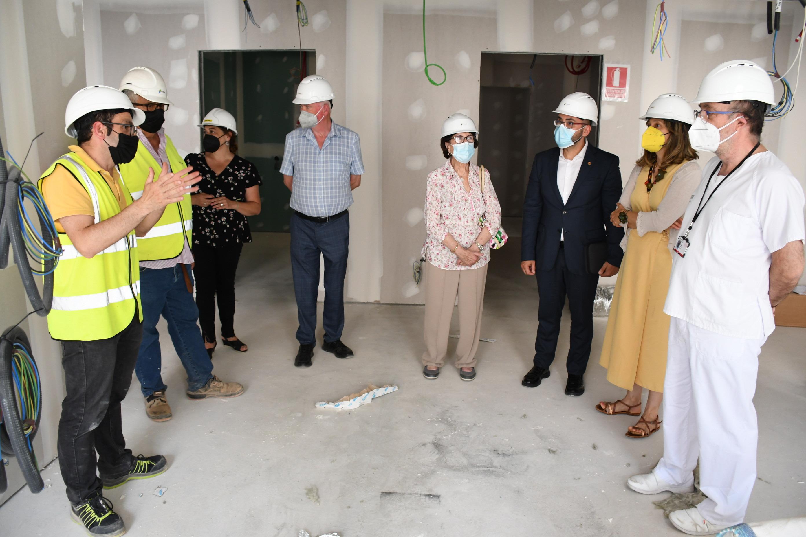 Visita, este martes, a las obras de ampliación del hospital La Plana de Vila-real.