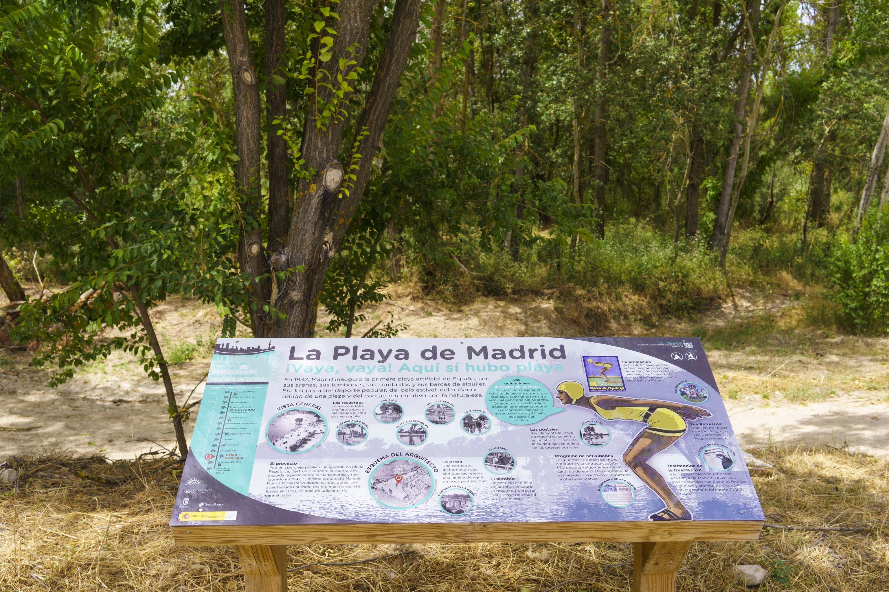 Lugar donde estuvo la Playa de Madrid.