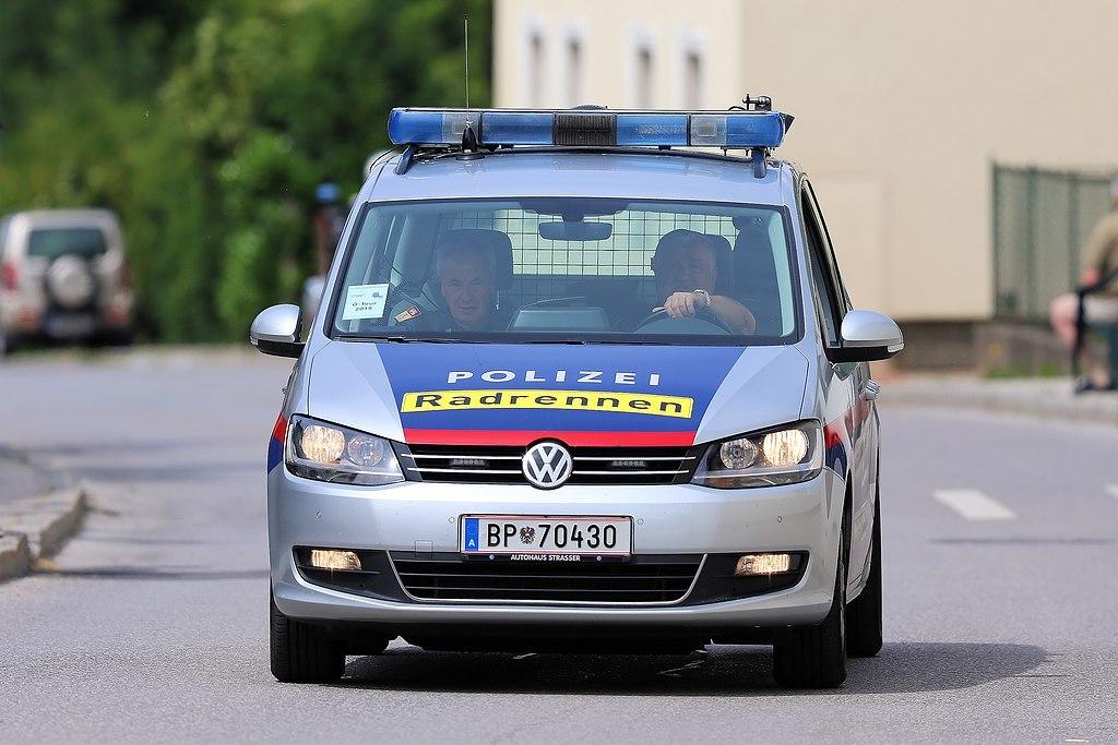 Un coche de la policía de Austria.