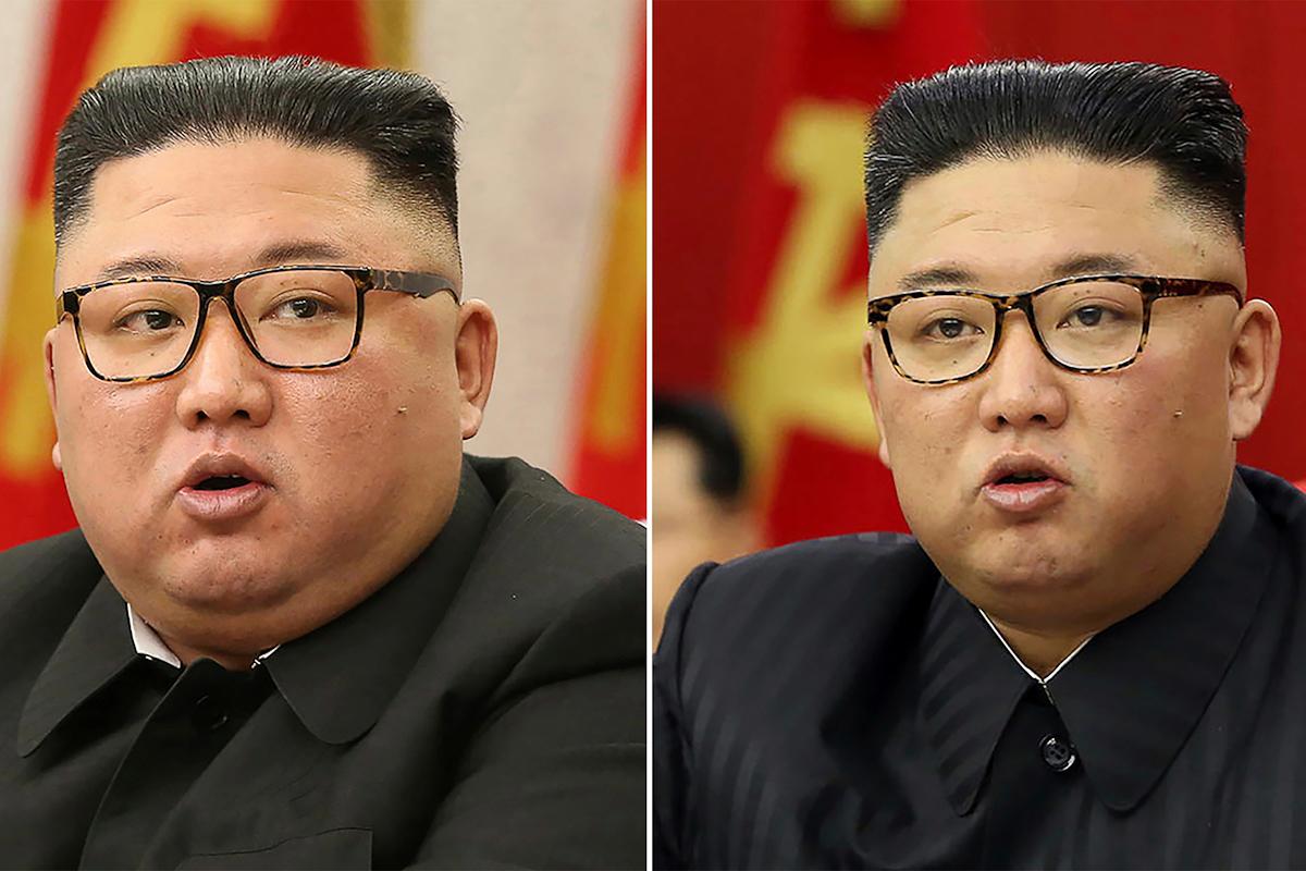 Kim Jong-un en febrero (a la izquierda) y en junio, más delgado (izquierda)