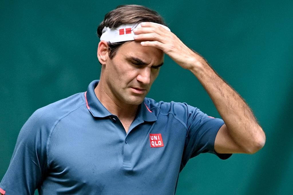 Federer durante el partido