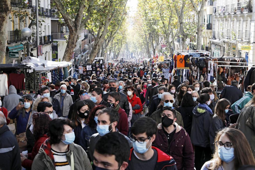 El Rastro, espacio representativo de Madrid.