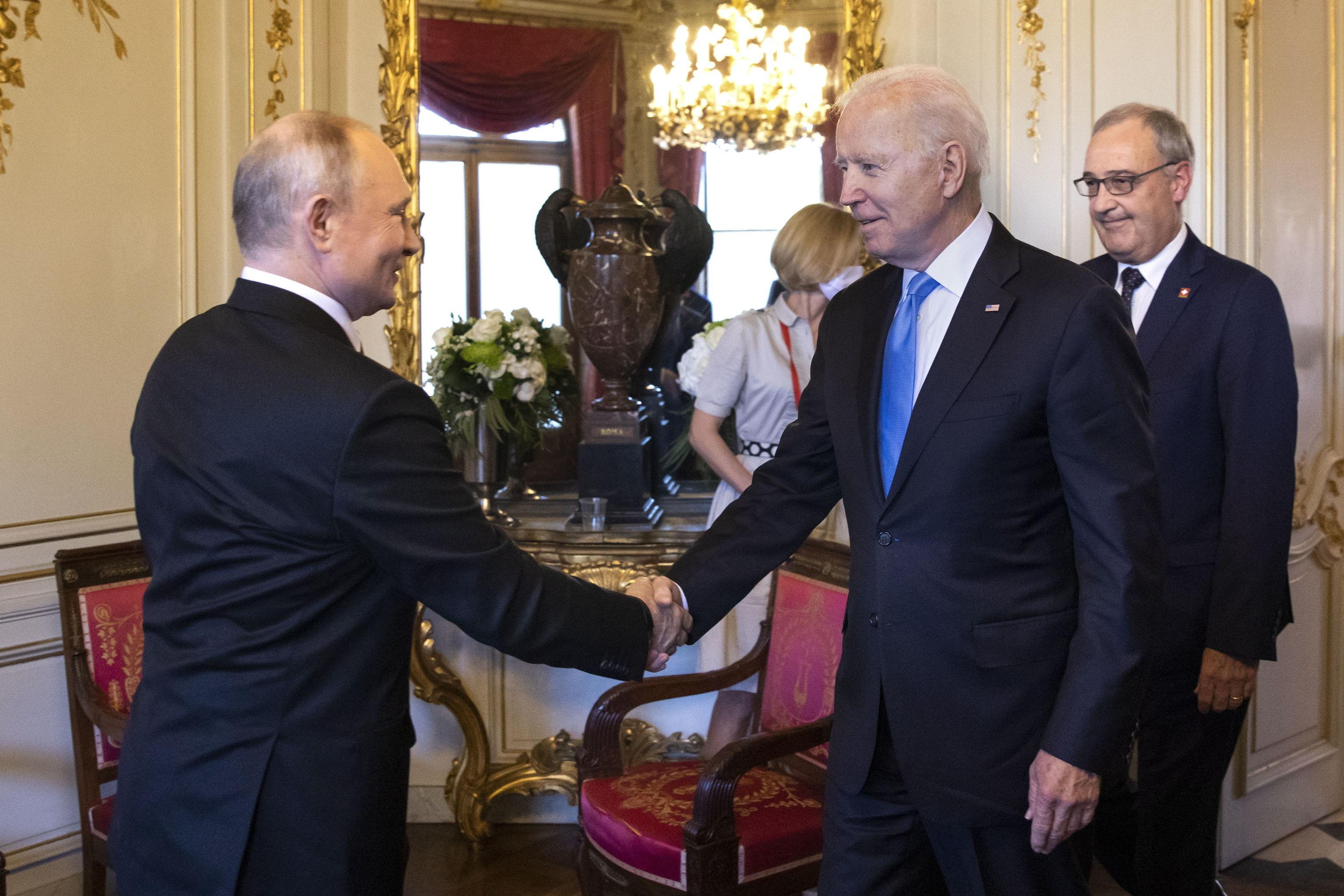 The Russian president, Vladimir Putin, and the American, Joe Biden.
