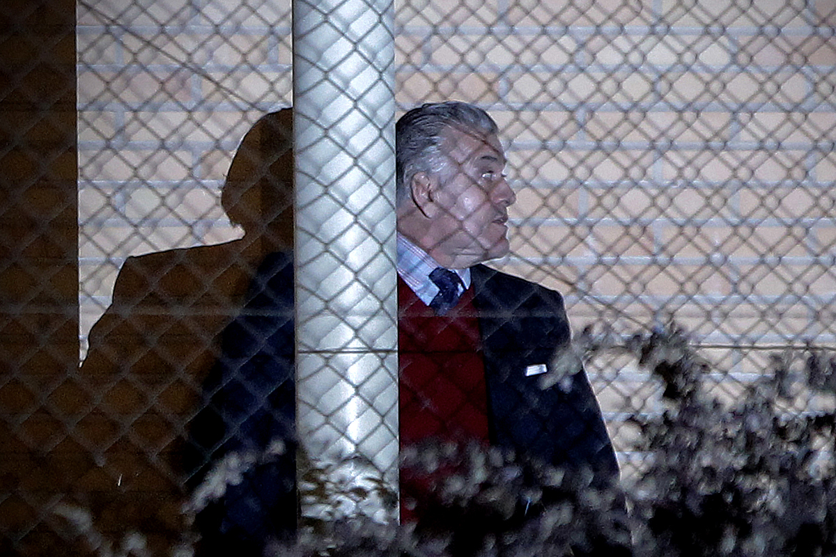 Luis Bárcenas, en una de sus salidas de la cárcel.