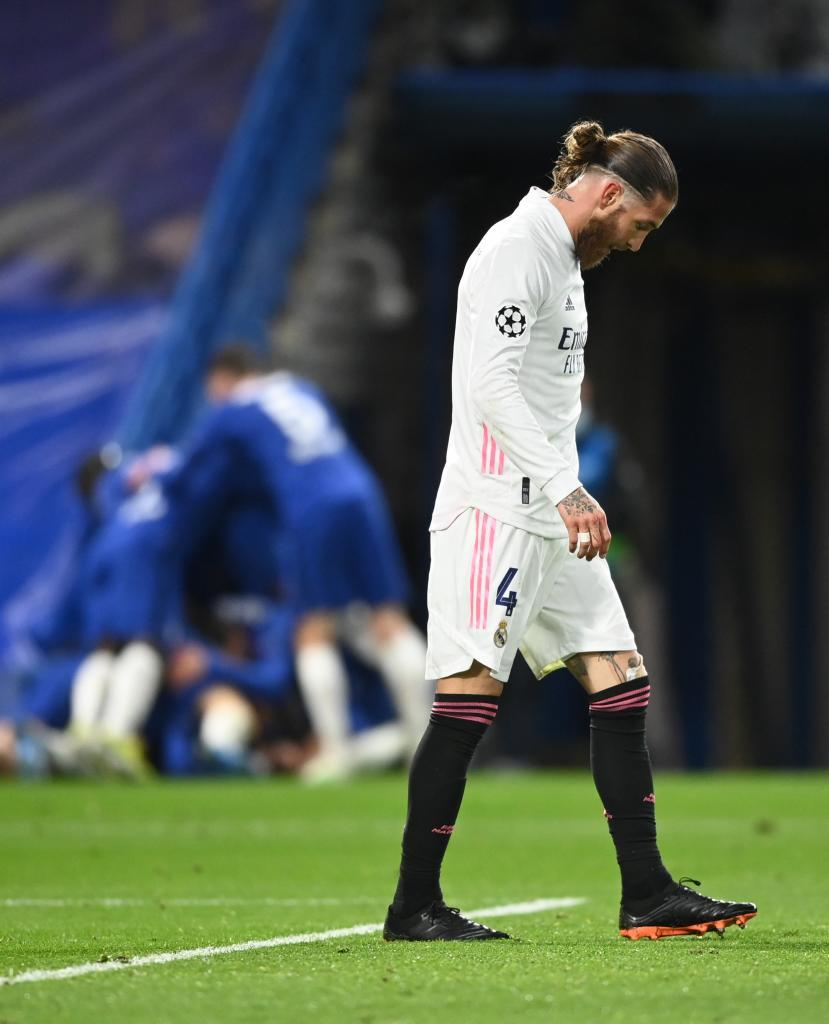 Sergio Ramos, tras la eliminación en la Champions contra el Chelsea.