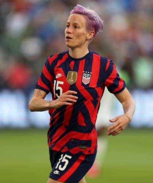 La futbolista Megan Rapanoe, activista LGTBQIA.