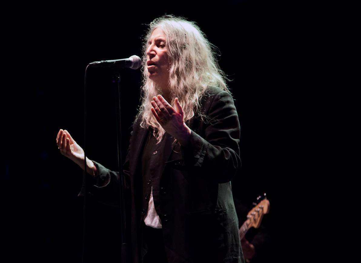Patti Smith durante un concierto en A Coruña en 2019.