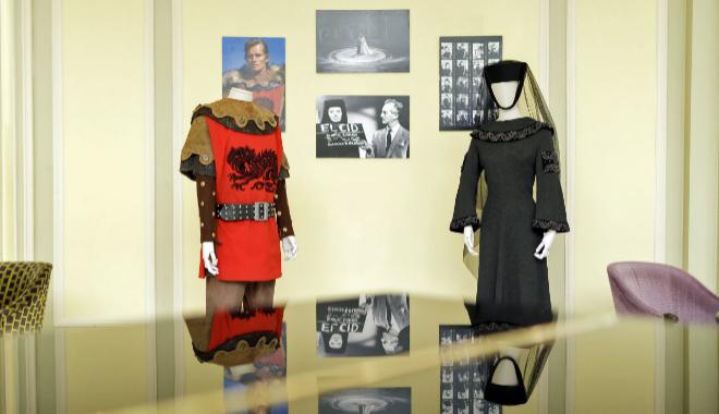 La vestimenta utilizada por Sofia Loren y Charlton Heston en 'El Cid'.