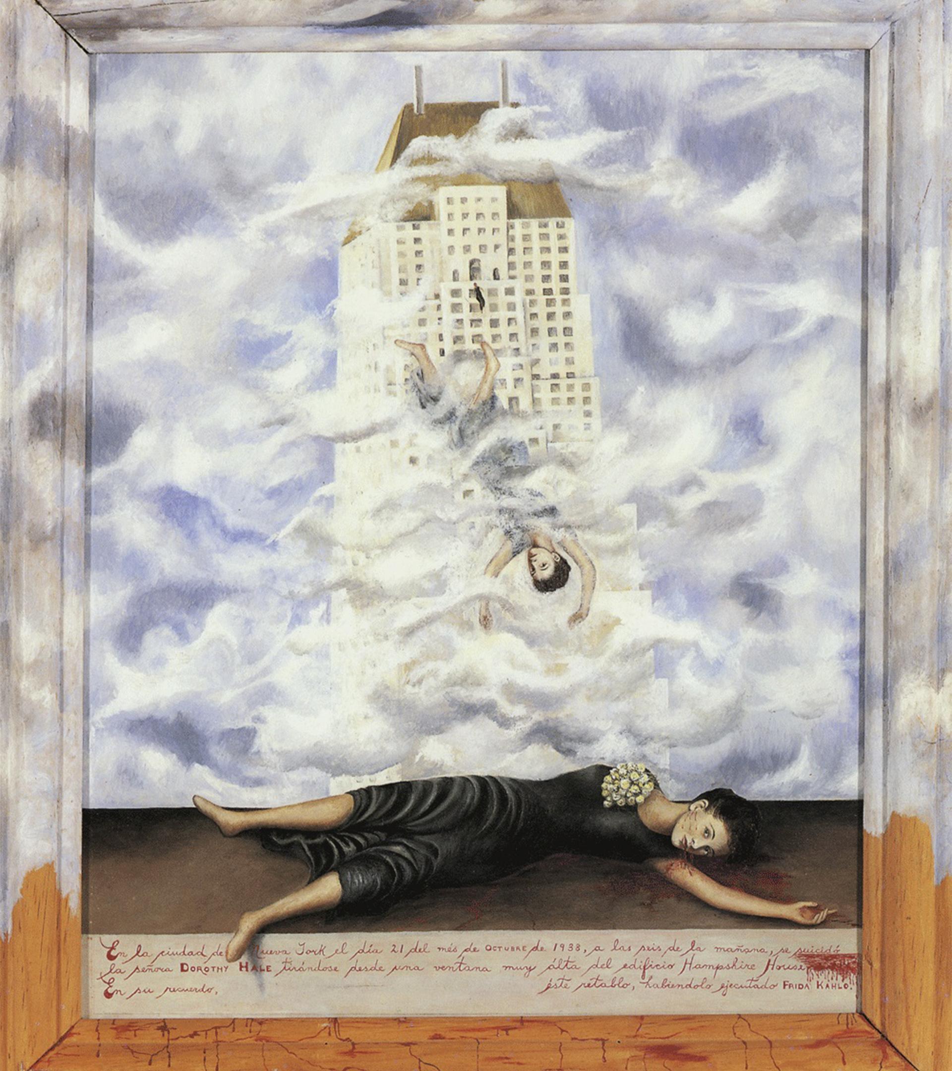 El suicidio de Dorothy Hale (1938), de Frida Kahlo