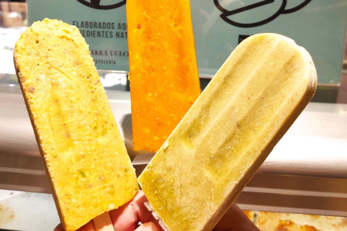 Los tres sabores que se suelen elaborar en La Barra Dulce.