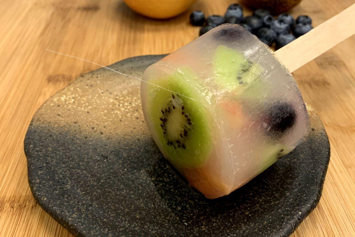 Multifruta, uno de los sabores que triunfó el año pasado en Wagashi Utatane.