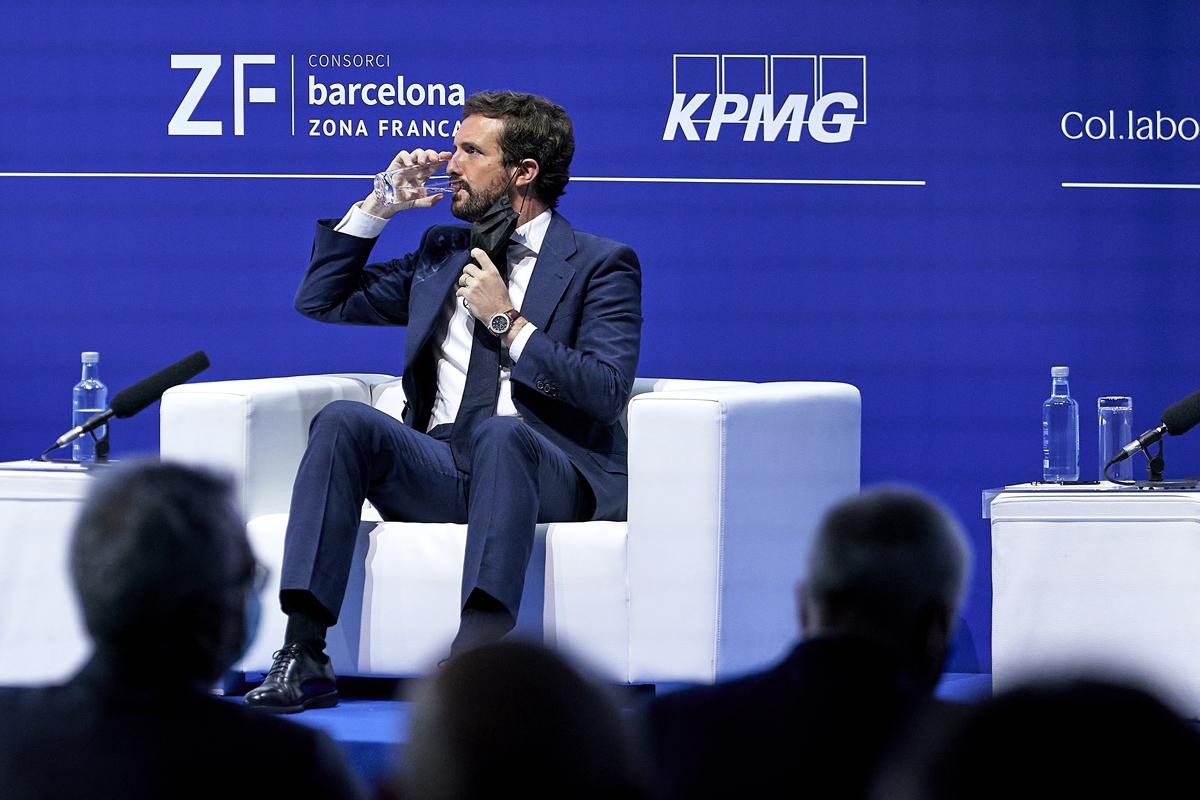 Pablo Casado, durante su intervención en el Círculo de Economía.