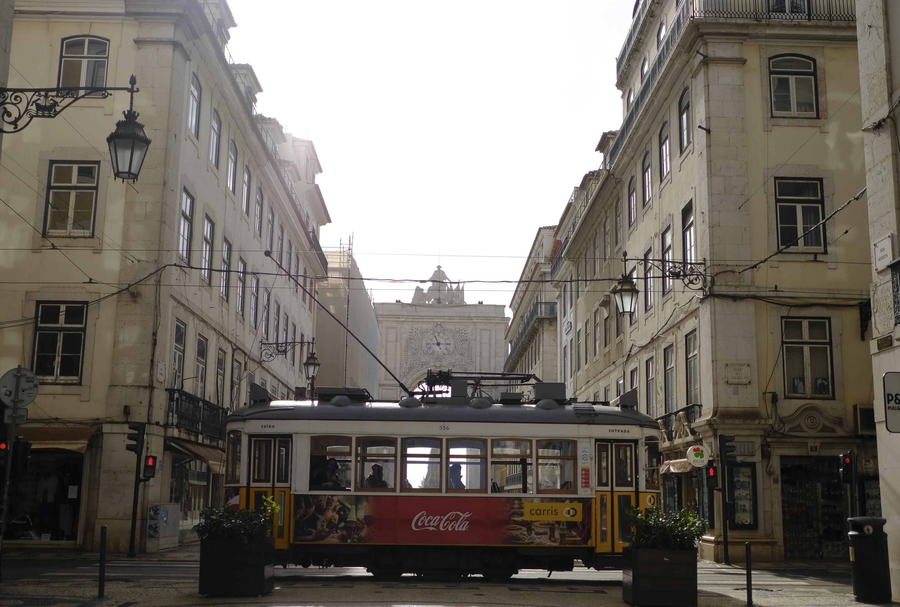 La pandemia de coronavirus vacía las calles de Lisboa, en Portugal, en enero de 2021.