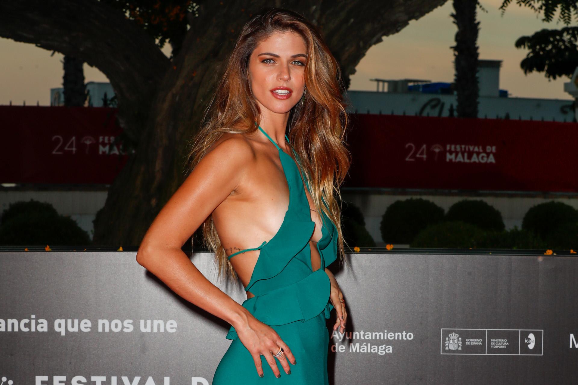 La actriz Stephanie Cayo en Málaga