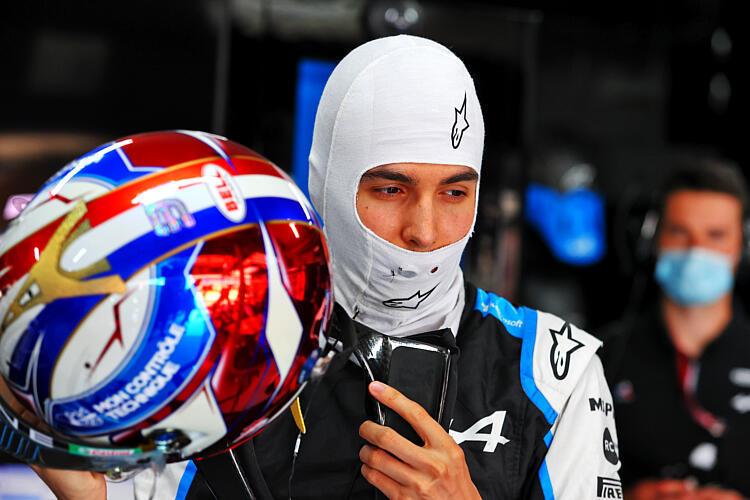Ocon,  durante los entrenamientos libres del GP de Francia.