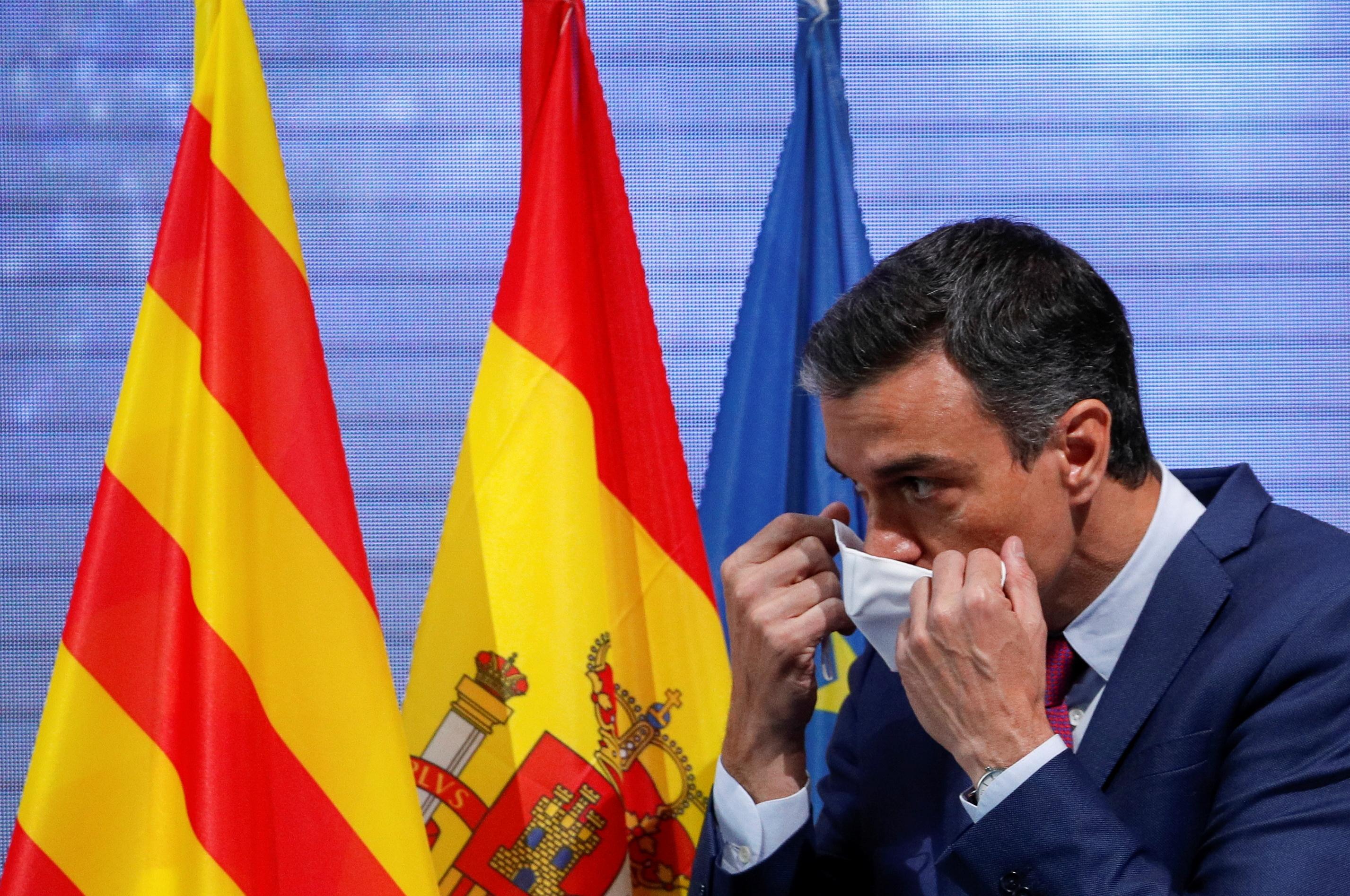 El presidente Pedro Sánchez, en Barcelona, tras intervenir en las jornadas del Círculo de Economía.
