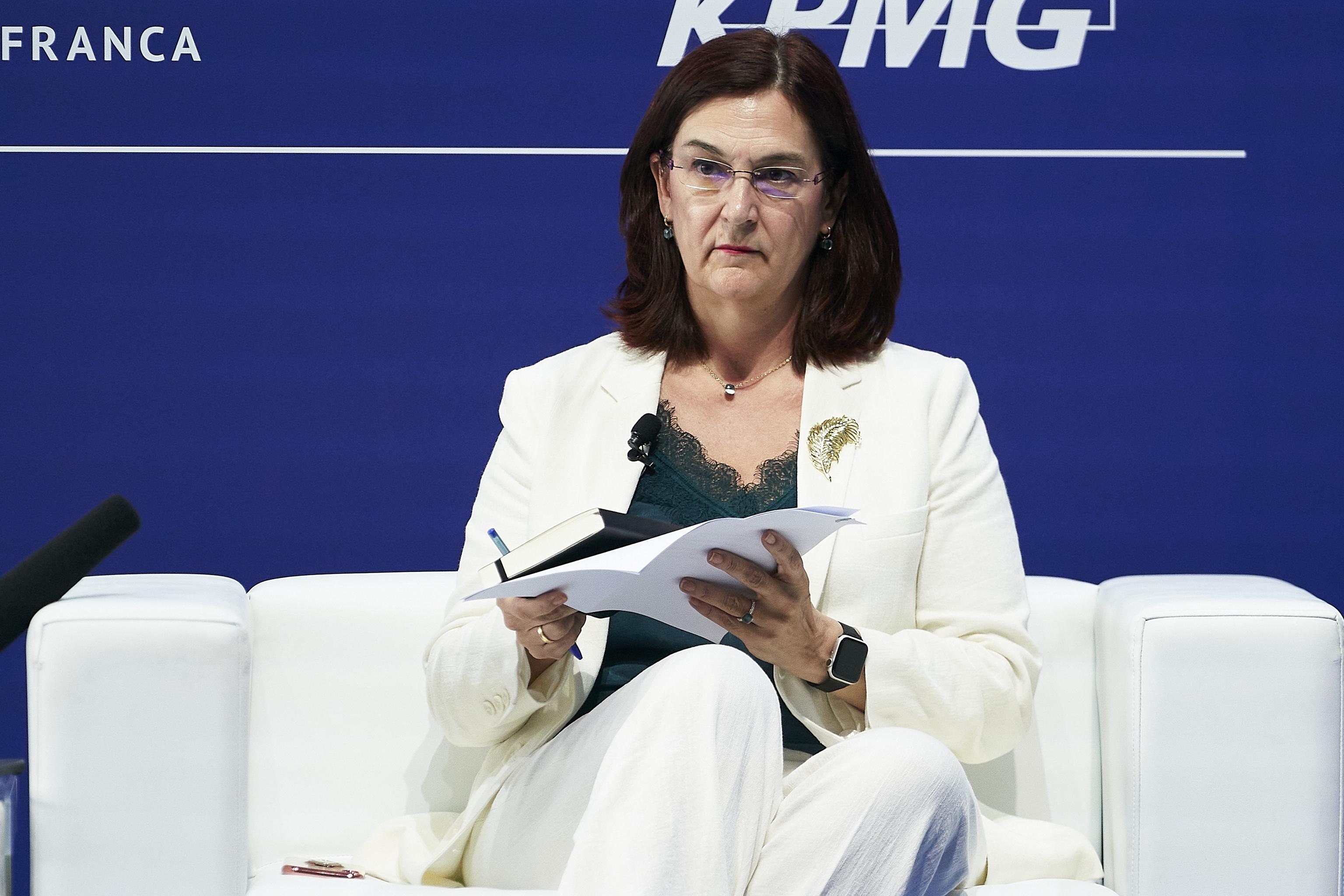 La presidenta de la CNMC, Cani Fernández, el pasado jueves en la reunión anual del Círculo de Economía en Barcelona