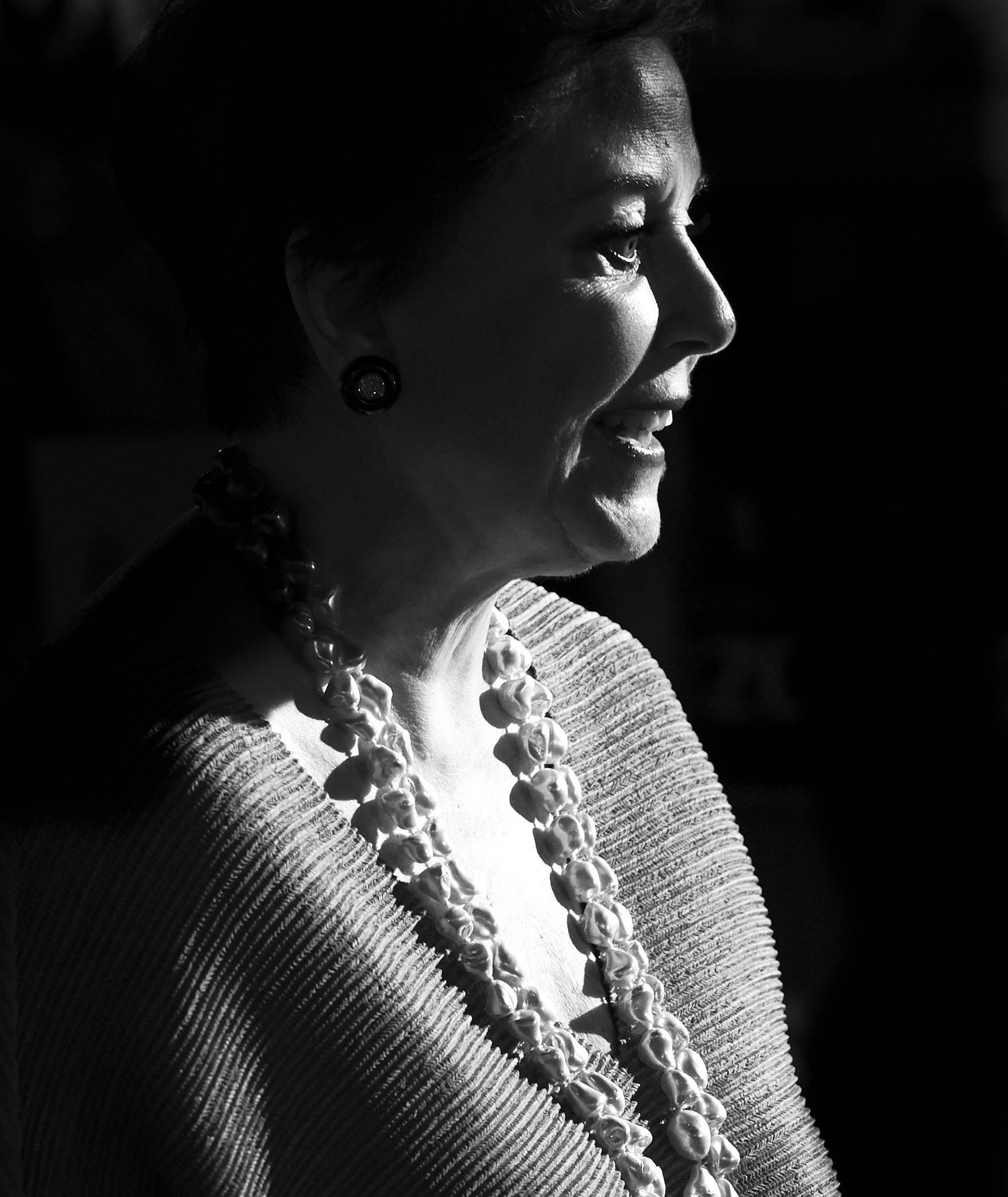 Mónica Randall en el Festival de Málaga en 2018.
