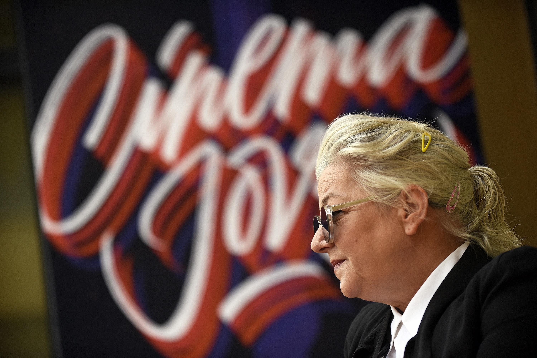 La directora Lynne Ramsay el sábado en Valencia.