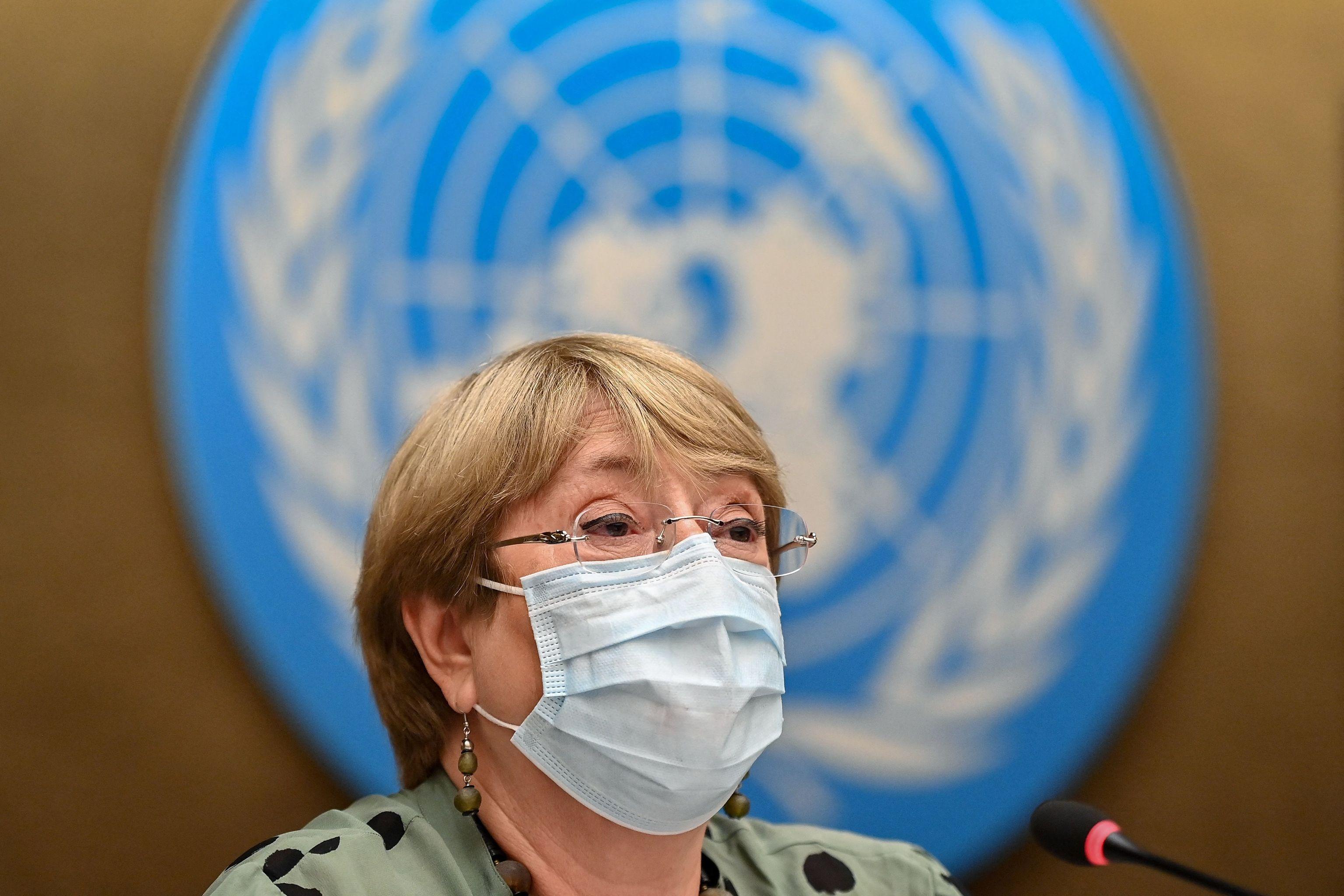 Michelle Bachelet, en Ginebra.