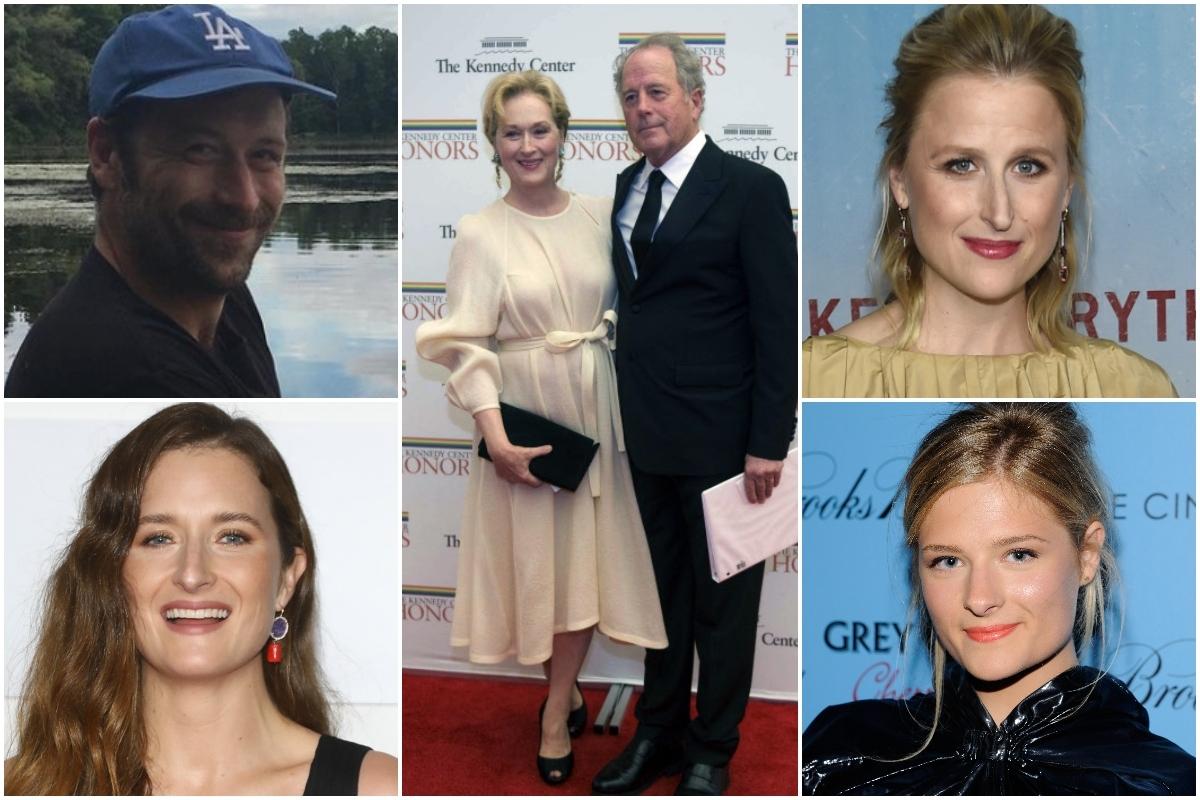 Meryl Streepp y Don Gummer (centro) han tenido cuatro hijos: Henry Wolfe, Mamie (arriba derecha), Grace (abajo izquierda) y Louisa.