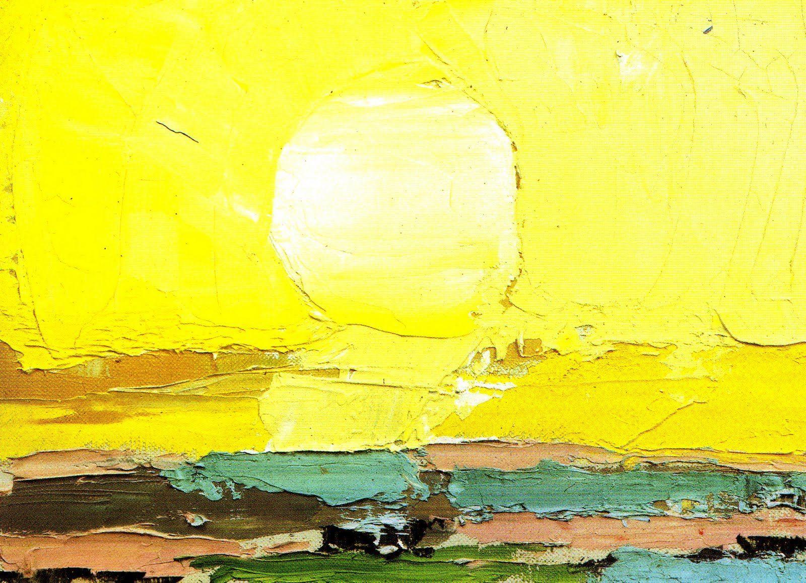 Verano. Cuadro de Nicolas de Staël, El Sol, verano 1953
