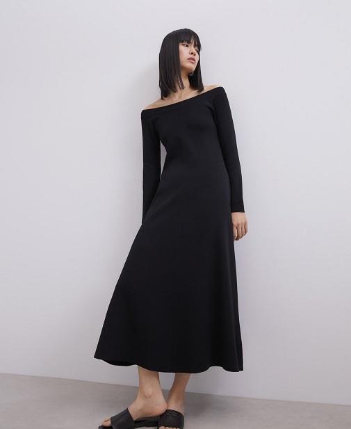 Vestido negro estilo lady de Adolfo Dominguez - Atemporal